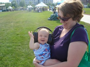 Kiddo at her first concert at 9 months of age.